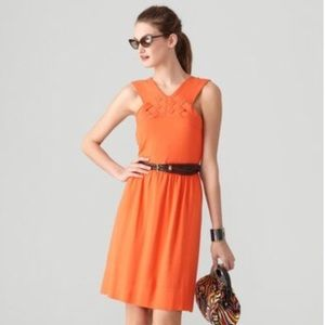 Milly Tangerine Basketweave Annalee Knit Dress
